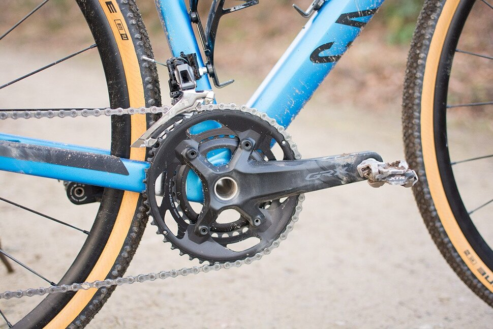 Выбор передних звезд на гравийном велосипеде